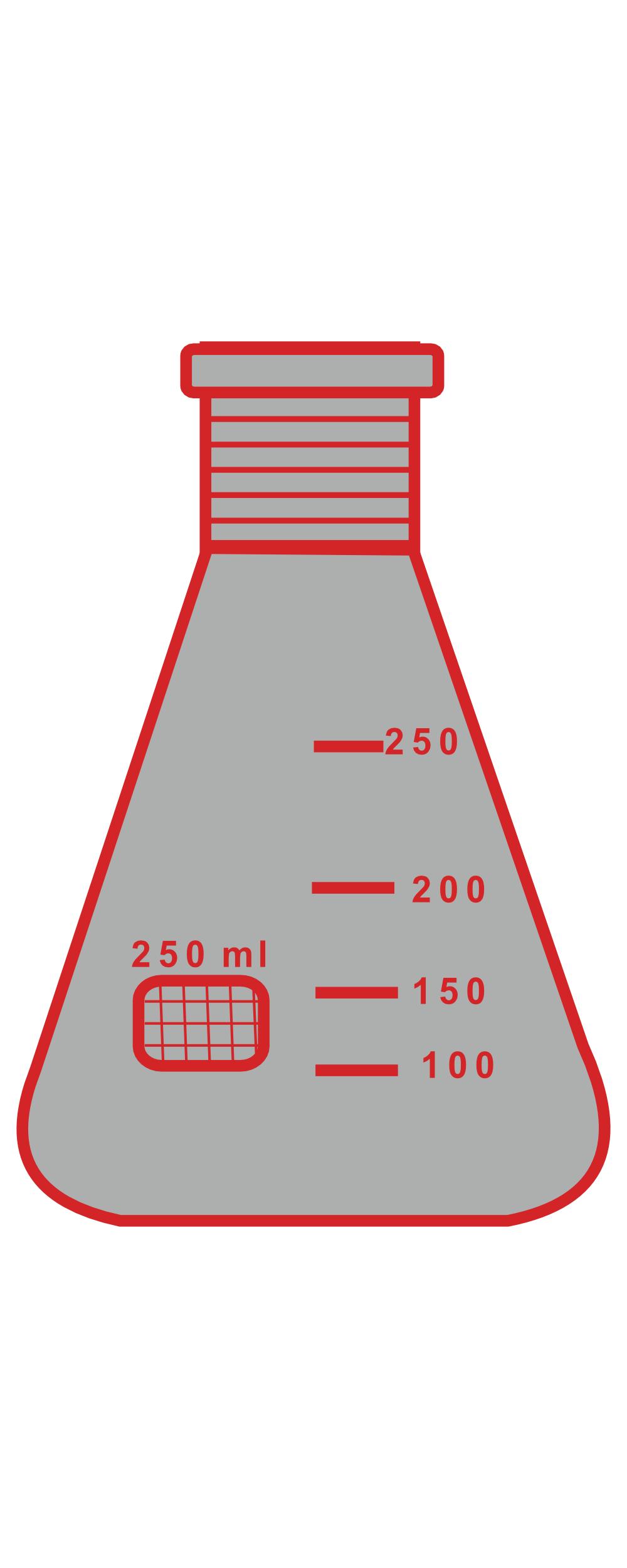 2. Winzer Laborglastechnik_braune Glasgeräte_Erlenmeyer-Kolben