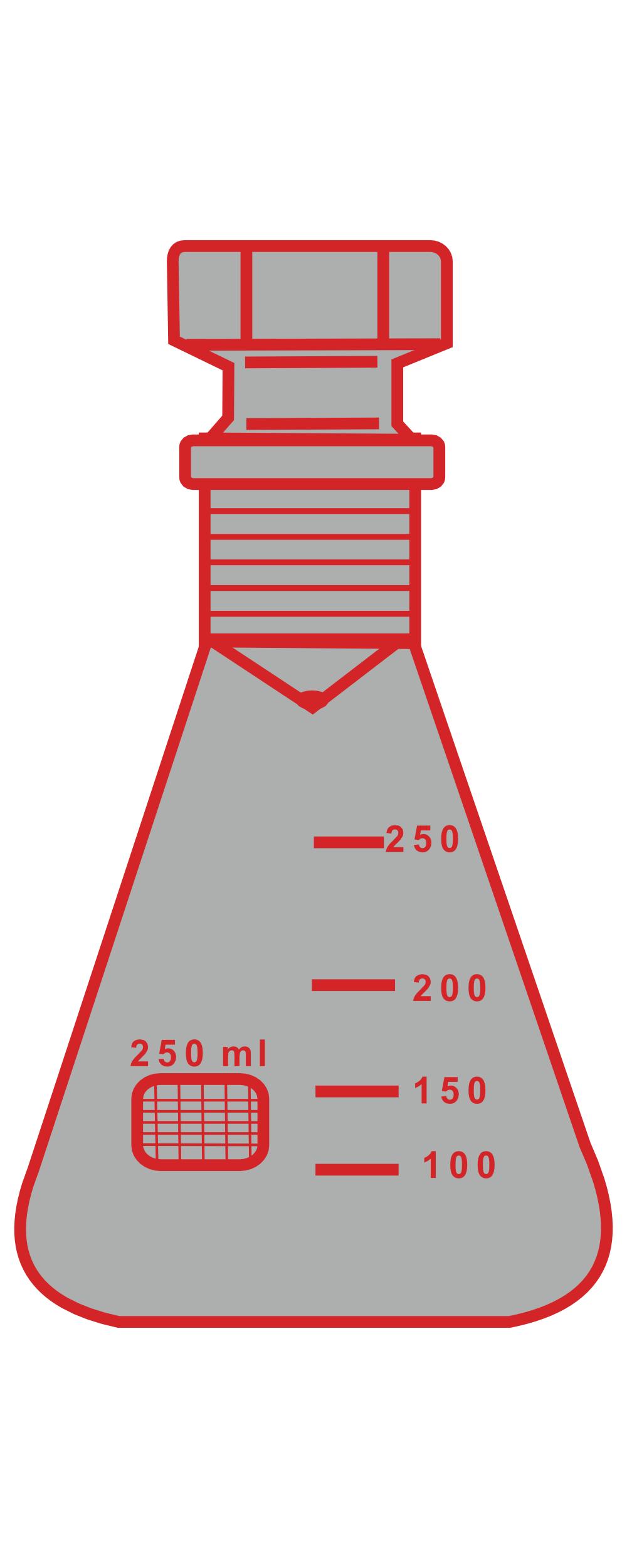 3. Winzer Laborglastechnik_braune Glasgeräte_Jodzahl-Kolben